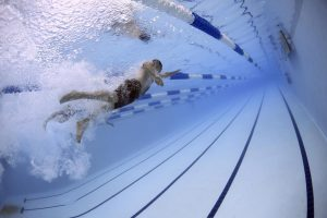 A Healthy fundraising activity involving the swim team.