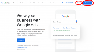 Create your Google Ads Account for your Booster Club
