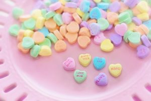 Classic Valentines Day Candy hearts