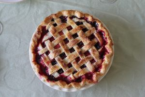 Whole Cherry Pie for sale by booster club for Pi Day