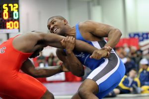 Wrestling match made possible by Wrestling Booster Club Support