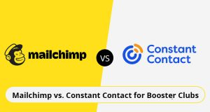 Mailchimp Versus Constant Contact for Booster clubs graphic