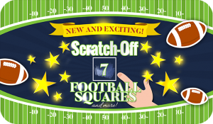 Low cost scratch off card fundraiser card