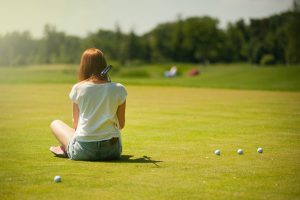 Golf booster club helps widen interest with a girl taking an interest in golf