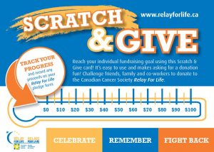 booster club scratch card fundraiser card for giving and supporting the organization.