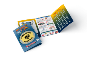 Example of a fundraising scratch off card