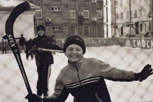 Kids having fun playing Hockey